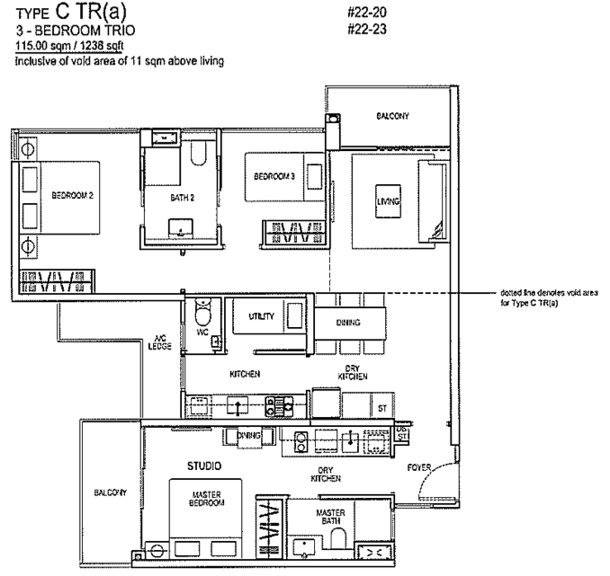 Rivertrees floor plans rivertrees condo floor plan brochure for Condo floor plan