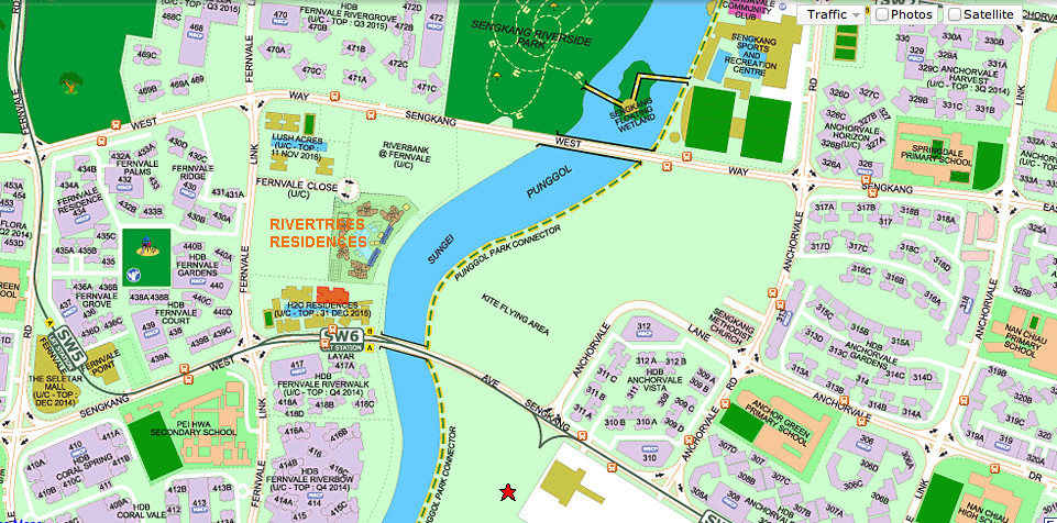 Rivertrees Location Map